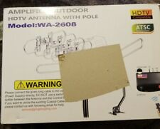 150 Miles HDTV Antenna Amplified Digital Outdoor Antenna with Mounting Pole