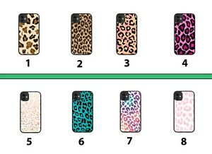 Leopard Print Rubber Phone Case Cover Skin Dots Hot Pink Rainbow Colourful 8164A