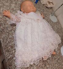 Vintage Spain BerjUsa Newborn Reborn Battery Op Baby Doll Cloth Body Eyes Closed
