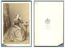 A. Ken, Madame Bertou-Boisson  CDV vintage albumen carte de visite,  Tirage al