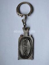 TOTAL GAZ benzina petrol olio oil auto vecchio portachiavi key ring vintage
