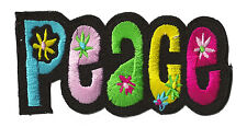 Ecusson patche patch PEACE hippy couleur Paix signe thermocollant badge