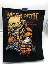 More details for vintage 80s 90s original rock metal back patch megadeth peace sells whos buying