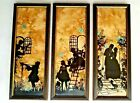 1930s Fisher Silhouettes Courting 3 Piece Collectibles Reverse Painting