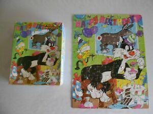 Tweety Bird & Sylvester cat 1970s VINTAGE 100 pc jigsaw puzzle Golden birthday