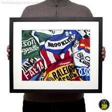 Iconic Vintage Retro Cycling Jersey Print Poster Art Sports Bike Bicycle Velo