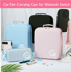Cute Cat Paw Carrying Case Pouch Big Shoulder Bag Protector for Nintendo Switch