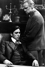 The Godfather Poster, Vito and Michael Corleone, Father and Son, Italian Mafia