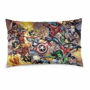 DIY Marvel Movie Super Heroes Pillowcase Bedroom Pillow Cover Standard Size Gift