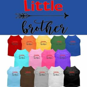 Little Brother Screen Print Pet Puppy Cat Dog Shirt