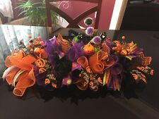 "28"" Handmade Halloween Deco Mesh Long Centerpiece/Table Runner - Multicolor"