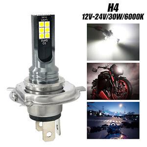 H4 LED COB Hi/Lo Beam Super Bright Motorcycle Headlight Front Lamp Bulb Bright