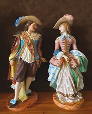 Antique French Limoges Old Haviland Pair Of Bisque Figurines