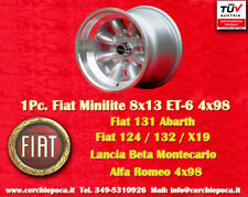 1 Cerchio Fiat 124 131 X19 Lancia Minilite 8x13 ET-6 Wheel Felge Llanta Jante