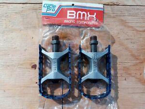 TTK Cycle Pro 9/16 blue pedals old school bmx Suntour MP1000 style