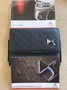 CITROEN DS3 OWNERS MANUAL HANDBOOK & NEW DS SERVICEBOOK & DS WALLET CASE GENUINE