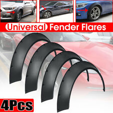 4x Universal Car Fender Flares 3.5'' 3.9'' Extra Wide Body Wheel Arches Flexible