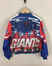 Vintage 90s NFL Chalk Line Fanimation NEW YORK GIANTS Jacket~Size Large~USA Made