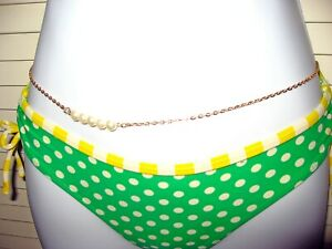 Gold Plated Bikini PEARL Waist Chain Sexy Belly Chain Women Accessory _ BC-06