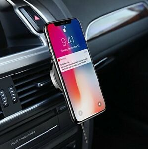 USAMS Outlet Suction Stand Wireless Car Charger Magnetic Air Vent Mount Holder
