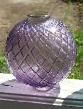 Antique Purple Mint Lightning Rod Ball Raised Flat Quilt Or Diamond Pattern