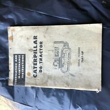 CAT CATERPILLAR D6 76A DOZER TRACTOR OPERATION MAINTENANCE MANUAL USED DIRTY