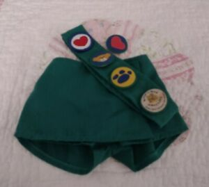 BAB, Build a Bear clothes, Girl Scouts uniform skirt and badges sash, pre-owned