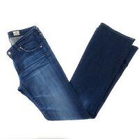 AG Adriano Goldschmied Womens Sz 30R Dark Wash Angel Bootcut Distressed Jeans
