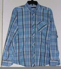 Men's Ben Sherman Heritage Size L Blue Plaid Button Down Long Sleeve Shirt