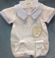 NWT Boys  3 piece knit with matching hat and socks from Will'beth size 0
