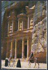 Jordanien Jordan used Post Card Postkarte Bauwerk building Petra [cm558]