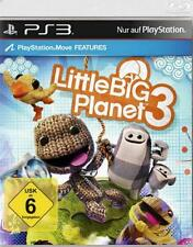 PLAYSTATION 3 Little Big Planet 3 tedesco completo Merce Nuova OVP NUOVO