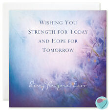 Sympathy Card Condolence Bereavement Sorry for you loss by juniperlove UK