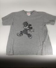 '80s Disneyland Grey Mickey Mouse Basketball T-Shirt Size Youth XL 14-16 Vintage