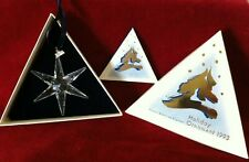 Rare - 1993 - Swarovski Annual Edition Star/Snowflake Christmas Holiday Ornament