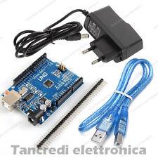 Arduino Uno R3 Rev3 compatibile con cavo USB e alimentatore 9V ATmega328P CH340