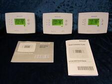 3 Honeywell RTH 2510 B Digital  7  Day Programmable Thermostat  Green display.