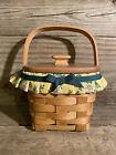 Longaberger Handmade Basket Mother's Day Basket With Liner & Lid