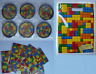 Lego theme party bag, puzzle maze, jigsaw, boy girl wedding filler