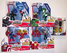 Playskool BLACK PANTHER & SP-MAN, THOR & HULK, CAP & FALCON, IRON MAN & HAWKEYE