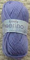 Knitting Wool 50g Merino 100% Wool Chunky Knitting Wool Yarn Wendy Wools