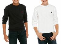 Ralph Lauren Polo Boys Black White Crew Neck Long Sleeve T shirt Top 2 3 4 5 6 7