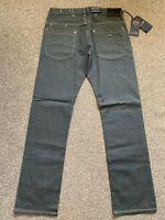 BNWT Armani Jeans J08 Regular Fit Mens Grey Denim Jeans | 33W 34L