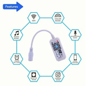LED WiFi Controller Smart Voice Controller Remote RGB/RGBW For Strip Li.jh