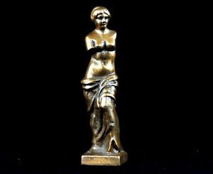 Antique Bronze Nude Woman Greek Roman Figure Statue Venus VTG