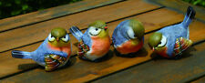 Small Resin Blue Bird Figurines Set of 4