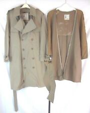 Misty Harbor Men Trench Coat Jacket Beige Khaki Belted Lined Size 40 Short F11