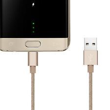 De alta velocidad de carga rápida Trenzado Micro USB Sync Cable Cargador para Android Samsung