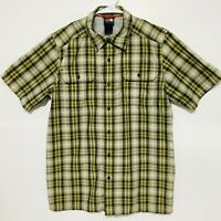 The North Face Plaid Short Sleeve Button Down Hiking Travel Shirt Mens Small