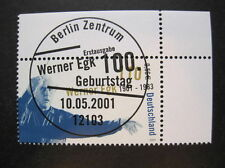 Bund,BRD MiNr. 2186  Ersttag Berlin,  Vollstempel,Eckrand  (R 237)